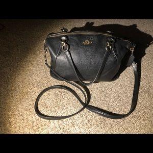 Coach pebble Leather satchel bag.